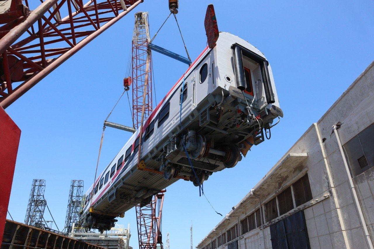 وصول 28 عربة سكة حديد روسية جديدة عبر ميناء الإسكندرية