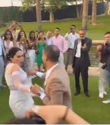 جانب من حفل زفاف فراج وبسنت