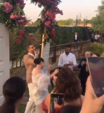 جانب من حفل الزفاف