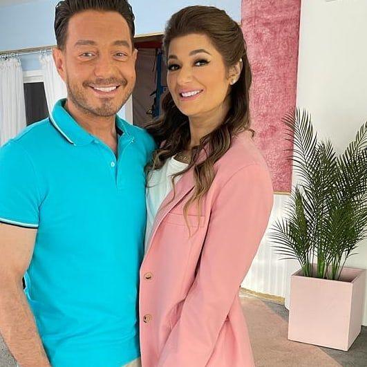أحمد زاهر وزوجته هدى