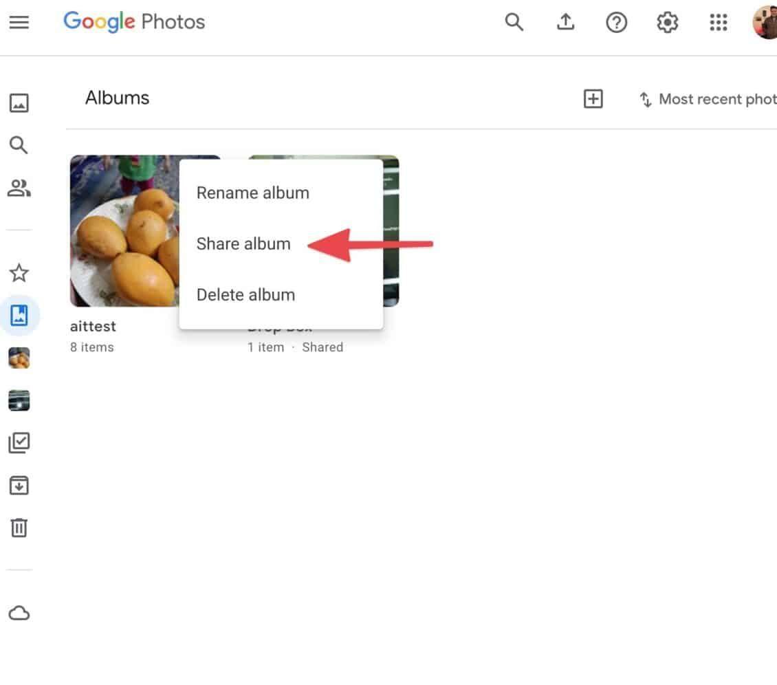 كيفية تحميل ومشاركة ألبوم Google Photos
