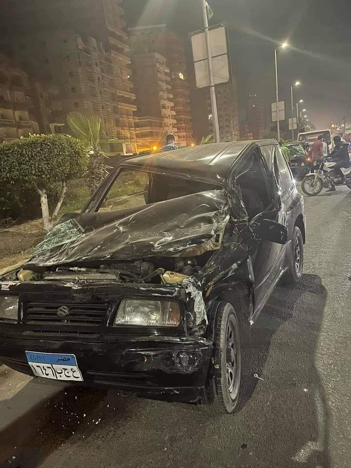 حادث سيارة خلال حفل زفاف