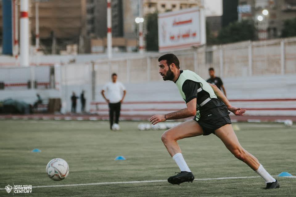 عمر كمال في مرانه الاول بالزمالك
