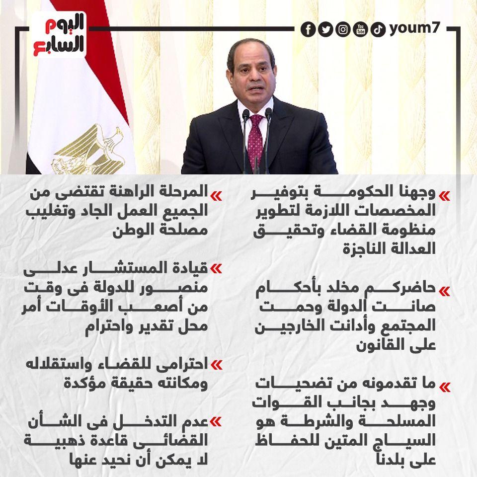 رسائل الرئيس السيسى