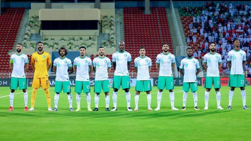 الأخضر - المنتخب السعودي ضد عمان