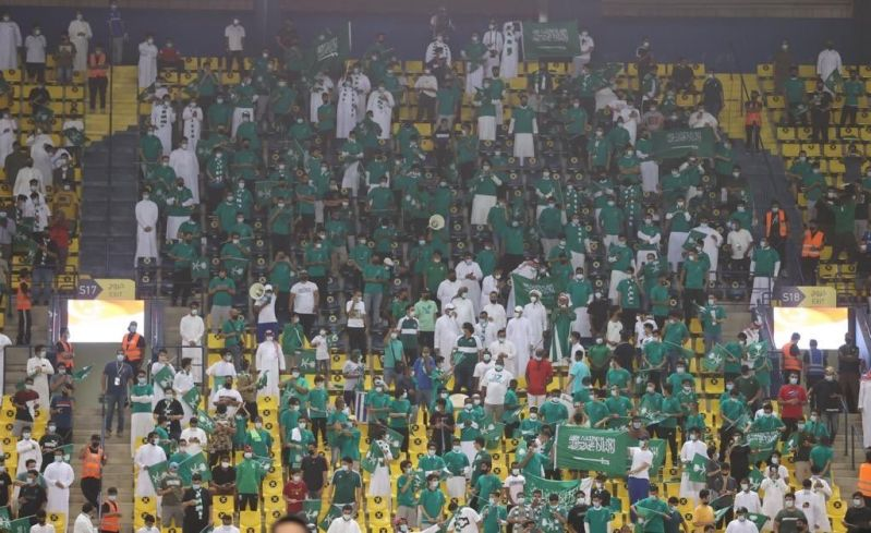 الجماهير في مباراة السعودية