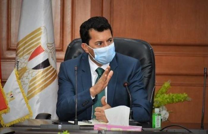أشرف صبحي يوجه التهنئة إلى النادي الأهلي بمناسبة وضع حجر أساس استاد الفريق
