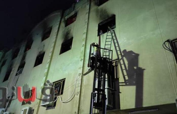 الحماية المدنية تجرى عمليات تبريد لحريق كنيسة مارمينا بالعمرانية   صور