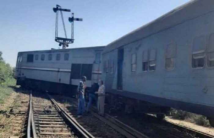 مصر.. خروج قطار جديد عن القضبان بمحافظة دمياط