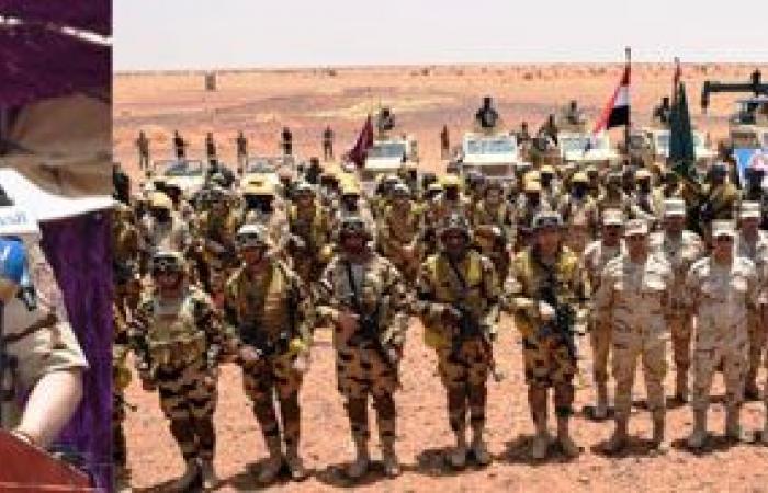 """الفريق محمد فريد يشهد فعاليات ختام التدريب """"المصرى السودانى"""" المشترك حماة النيل"""