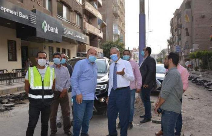 محافظ القليوبية يتابع سير العمل في مشروعات مدينة بنها