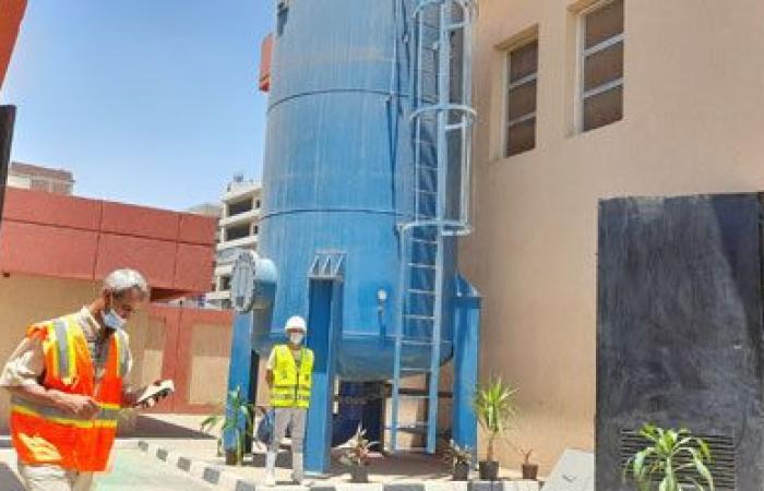 افتتاح خزان ورافع مياه بصفط اللبن لخدمة 80 ألف مواطن.. فيديو صور