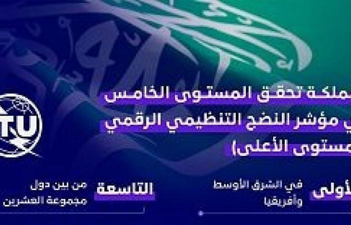 السعودية تحقق أعلى مستوى عالمي في مؤشر النضج التنظيمي الرقمي