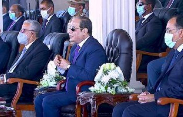 ماشيين بكرم الله.. شاهد دعاء الرئيس السيسي خلال تفقده معدات حياة كريمة