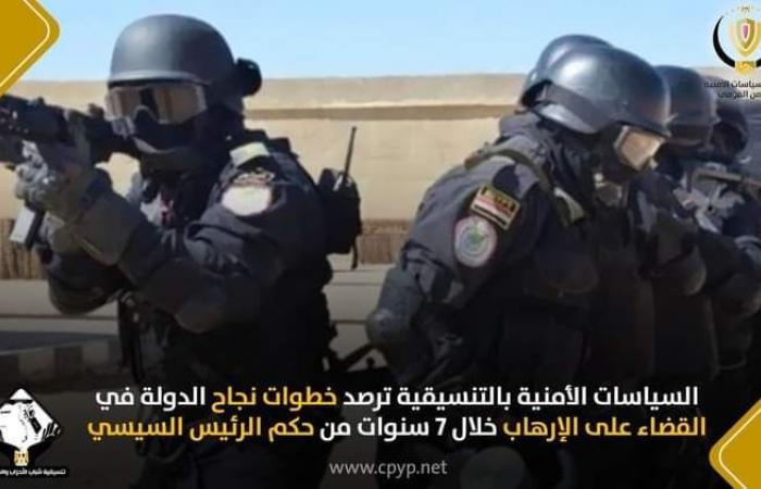 تنسيقية شباب الأحزاب والسياسيين ترصد خطوات نجاح الدولة فى القضاء على الإرهاب