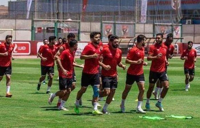 مران الأهلي   تدريبات استشفائية للمشاركين في مباراة بيراميدز