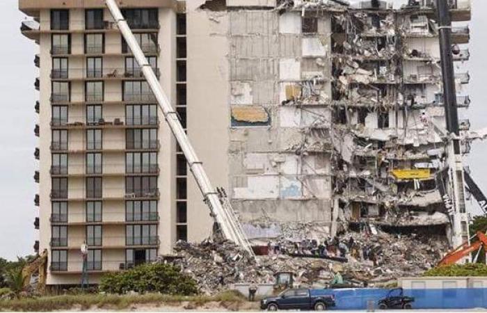 """سلسلة """"صدف"""" تنقذ امرأة من كارثة مبنى ميامي المنهار"""