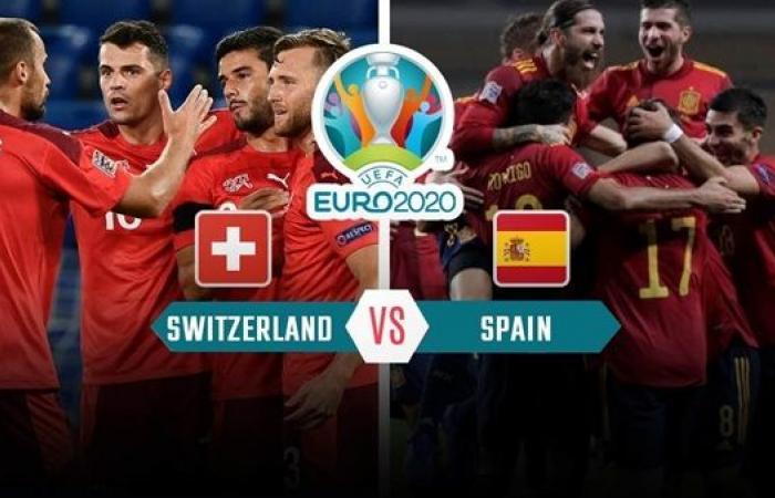 موعد مباراة إسبانيا ضد سويسرا اليوم الجمعة في ربع نهائي اليورو