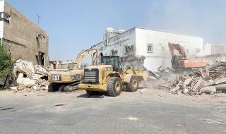جدة: استئناف إزالة المباني العشوائية في «غليل» و«بترومين»