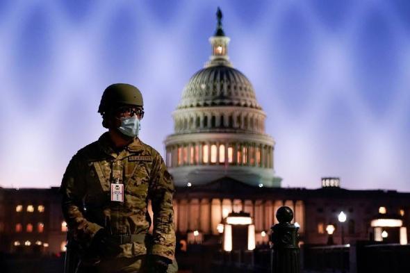 اعتقال 4 أشخاص خلال احتجاجات أمام الكابيتول الأمريكي